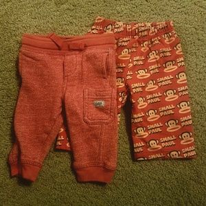 6M unisex baby pants set of 2